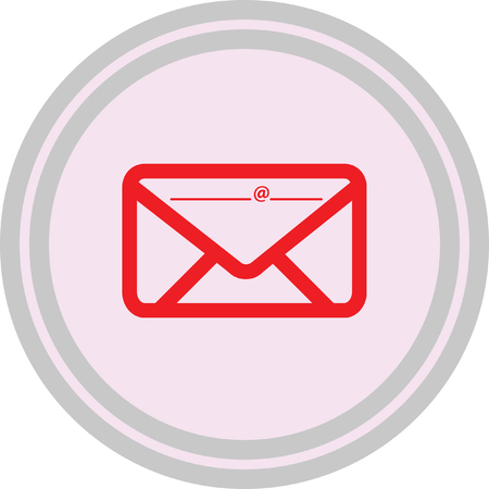 Email icon on a white background