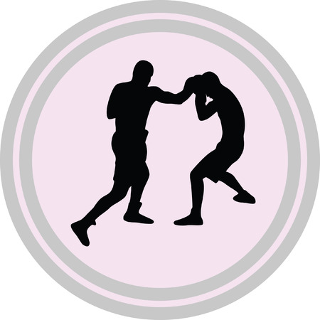 boxing icon on a white background Illustration