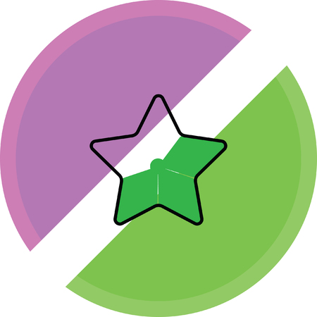 green star favorite icon on a white background Illustration