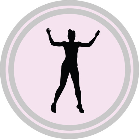 fitness woman icon on a white background