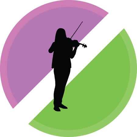 violin illustration on a white background Illustration