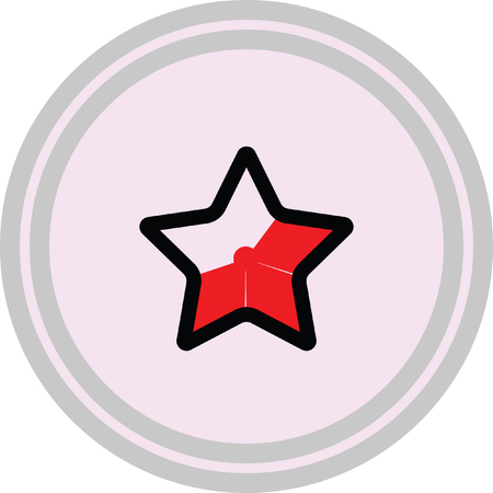 red star favorite icon on a white background