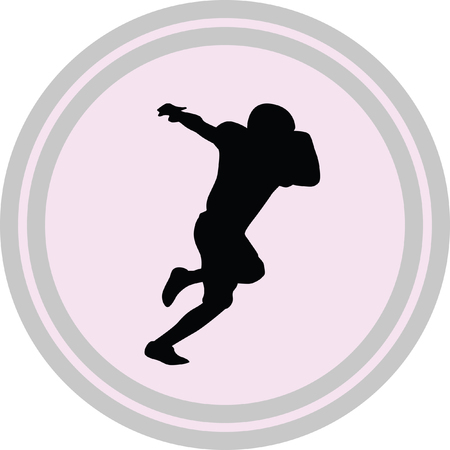 american football player icon on a white background Illustration