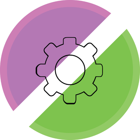 wheel spin: setting web internet icon Illustration