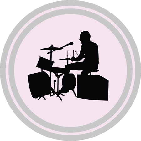 drumer illustration on a white background