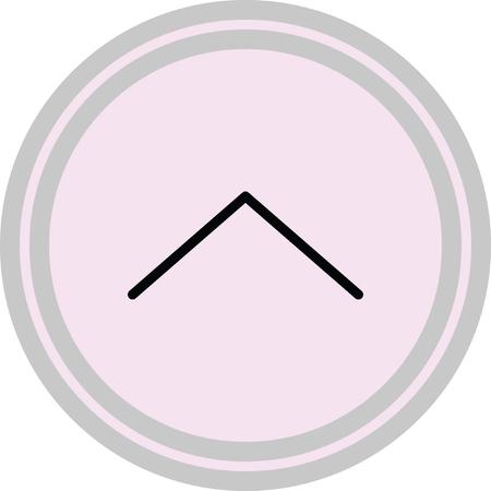 escape: down open arrow vector icon Illustration