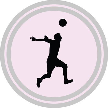 volley: volleyball illustration on a white background