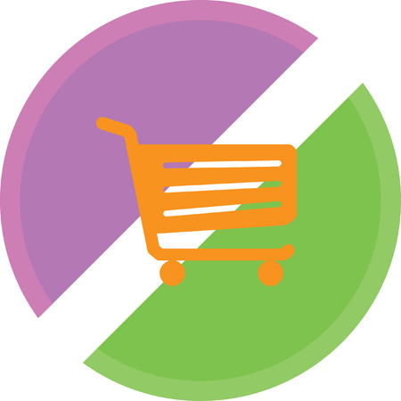 add to cart: Shopping cart sign Illustration