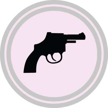 gun illustration on a white background