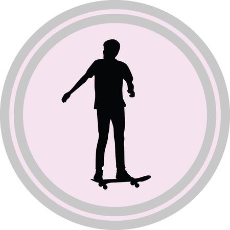 skateboarder illustration on a white background