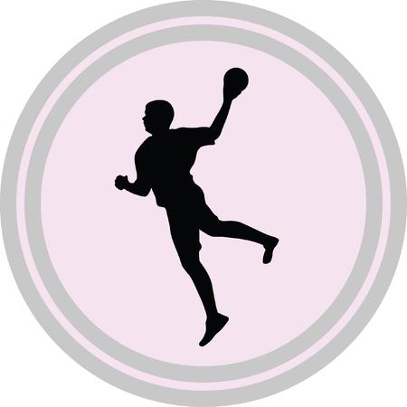 handball: handball illustration on a white background Illustration