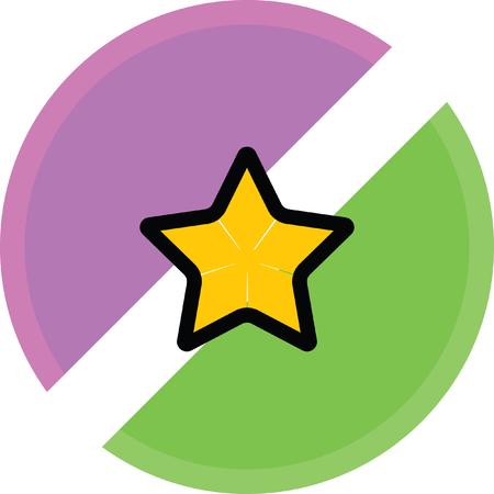 étoile d'or icône préférée