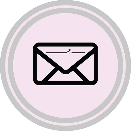 Email icon illustration on a white background