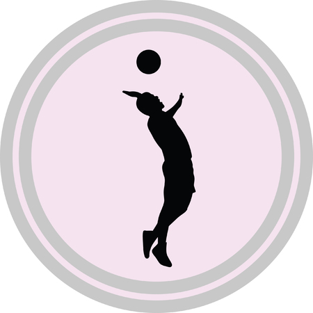 volleyball illustration on a white background