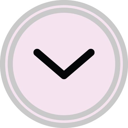 down open arrow vector icon Illustration