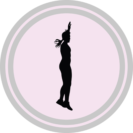fitness woman illustration on a white background