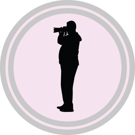 pressman: photographer illustration on a white background