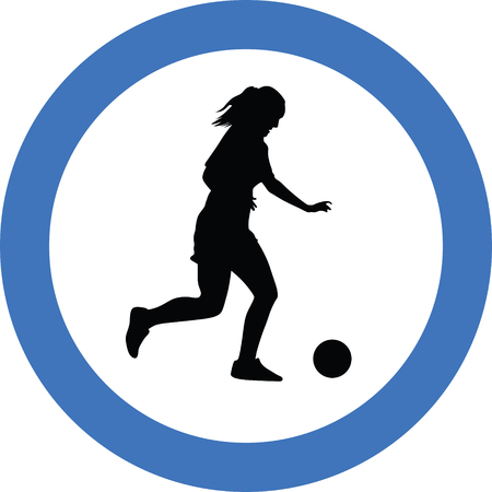 soccer player woman Illustration