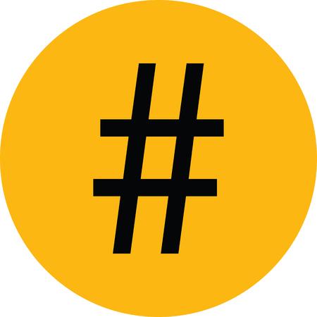 hashtag sign. number sign. pound sign. Illustration