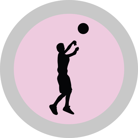 kid as a basketball player Illustration