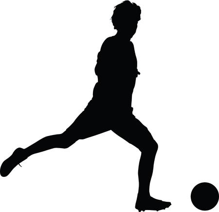 soccer player Vector illustration.