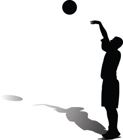 basketball player silhouette Vector illustration.