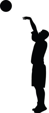 basketball player silhouette Vector illustration. Stock Vector - 97365398