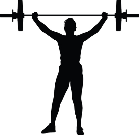 weight lifting girl silhouette