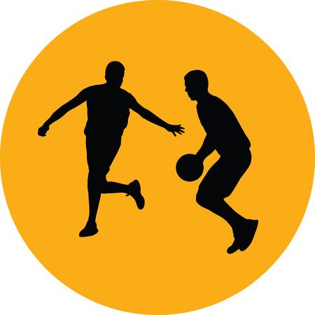 basketball player silhouette vector Stock Vector - 101832284