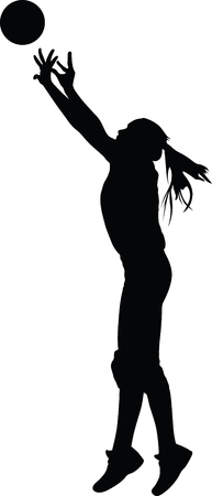volleyball woman player silhouette