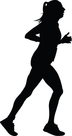 runner silhouette jogging