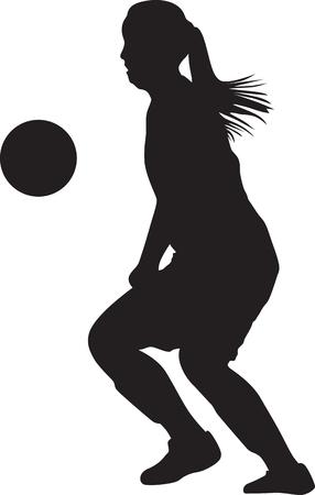 girl soccer player silhouette