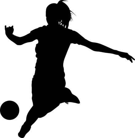 girl play soccer. soccer woman player