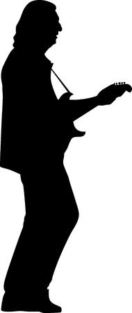 guitarist silhouette vector