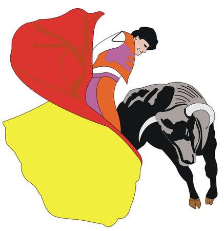 matador: Matador met stier