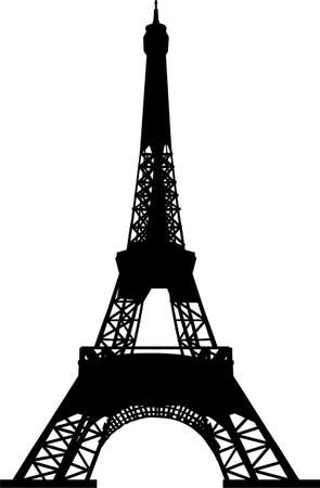 eiffel tower: eiffel tower silhouette
