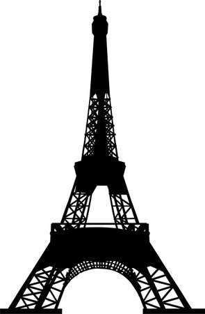 eiffel tower: Torre Eiffel silueta
