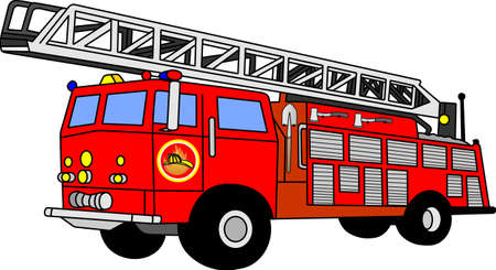 carro bomberos: cami�n de bomberos  Vectores