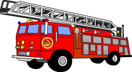camion pompier: camion d'incendie