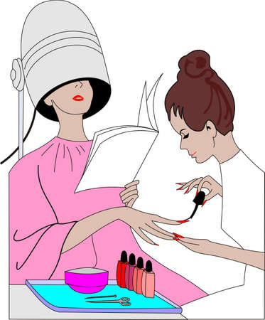 nail scissors: manicure Illustration