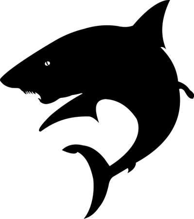 shark silhouette Stock Vector - 2470832