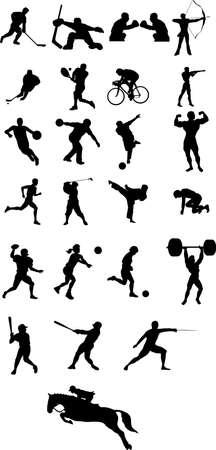 sport icon silhouette Vector