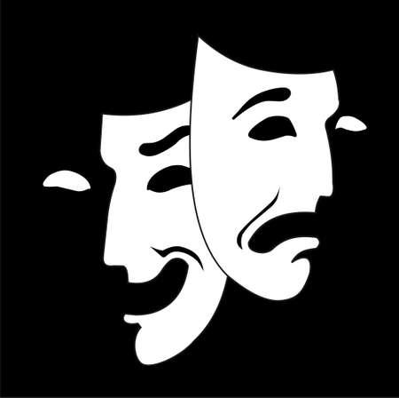 theater masker Vector Illustratie
