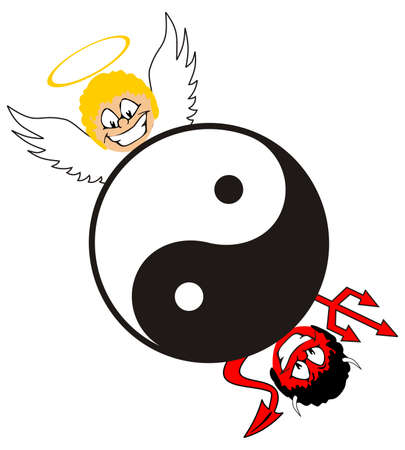 complement: yin yang symbol