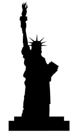 sculpt: statue of liberty silhouette vector file
