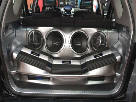 car hi-fi audio system Stock Photo