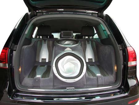 surround system: luxury car audio-system Stock Photo