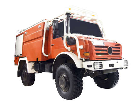 coche de bomberos: cami�n de bomberos aisladas Foto de archivo