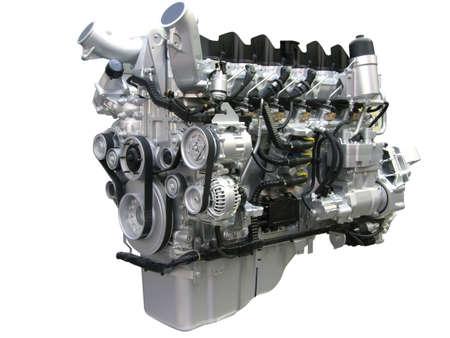 truck engine isolated photo