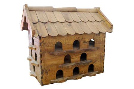 maison oiseau: oiseau maison isol�e Banque d'images